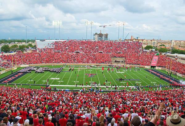 Photograph - Texas Tech Jones Stadium by Mae Wertz