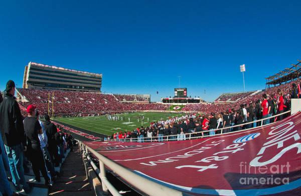 Photograph - Texas Tech University Jones Stadium by Mae Wertz