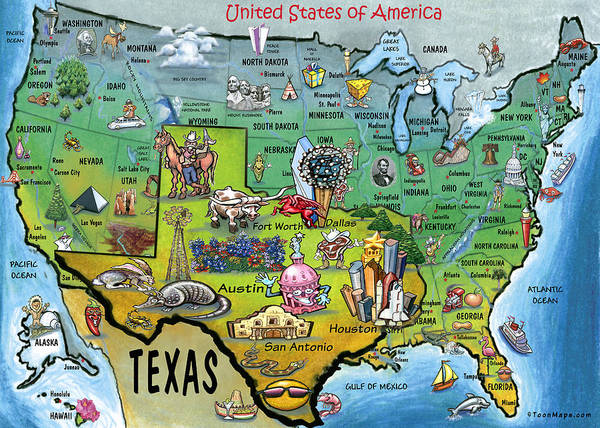 Painting - Texas Usa by Kevin Middleton