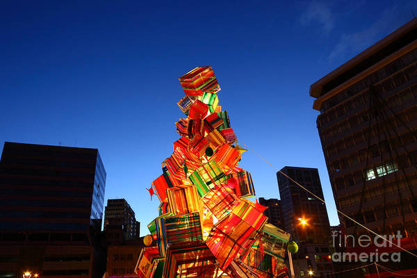 Photograph - Textile Christmas Tree In La Paz by James Brunker
