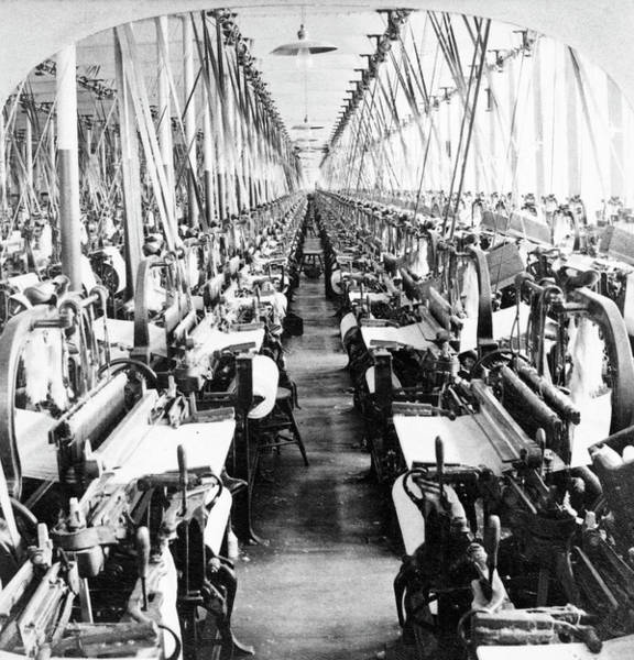 Photograph - Textile Mill Power Looms by Granger