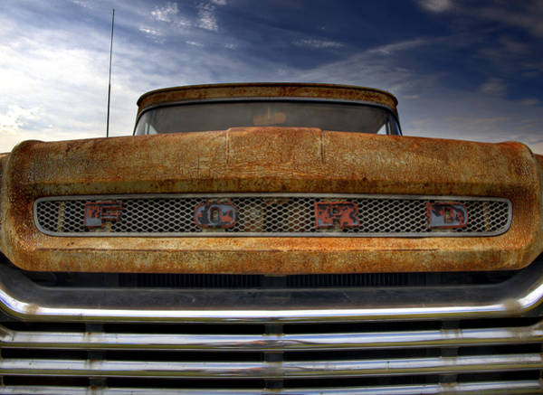 Photograph - Textured Ford Truck 2 by Thomas Young