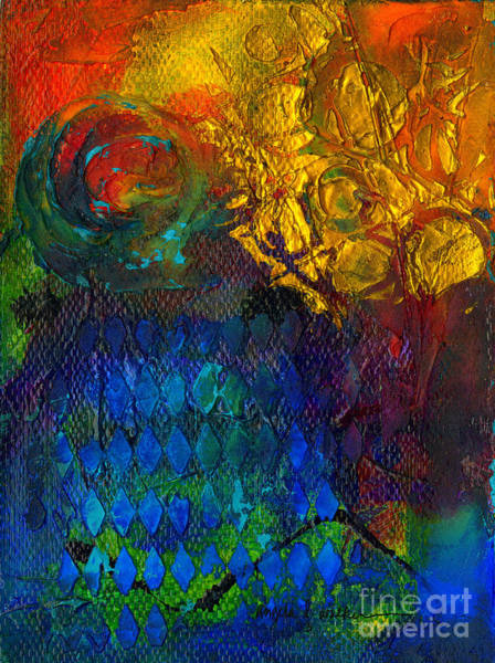 Wall Art - Mixed Media - Textured Joy by Angela L Walker
