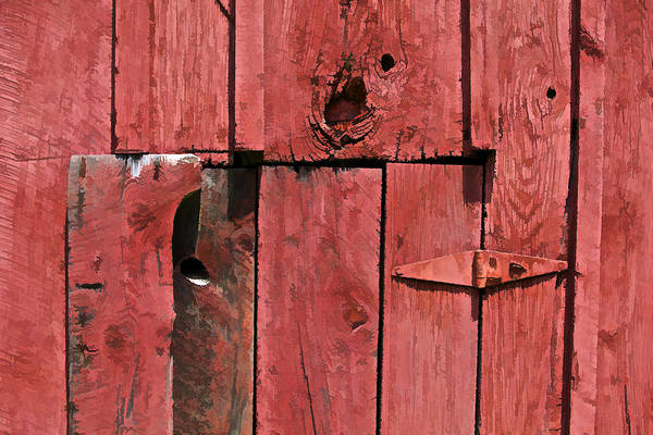 Photograph - Textured Red Barn Wall by David Letts