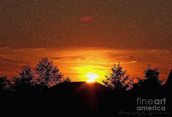 Textured Rural Sunset Art Print