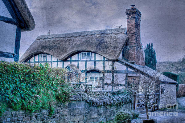 Photograph - Textured Thatched Cottage by David Birchall