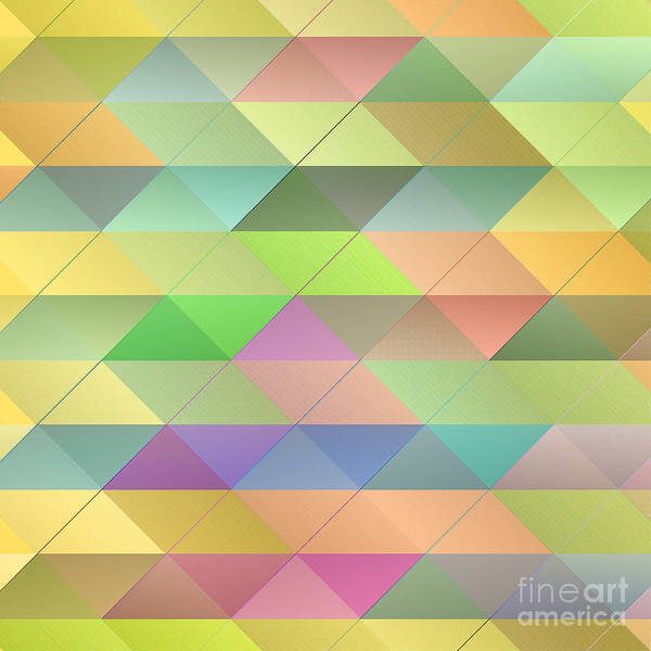 Checker Digital Art - Textured Triangles Pattern by Gaspar Avila