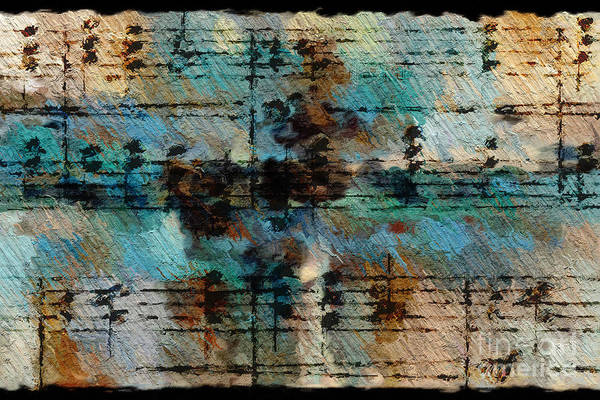 Digital Art - Textured Turquoise by Lon Chaffin
