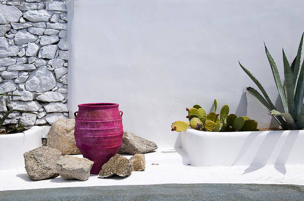Photograph - Textures And Colours Of Mykonos Greece by Brenda Kean