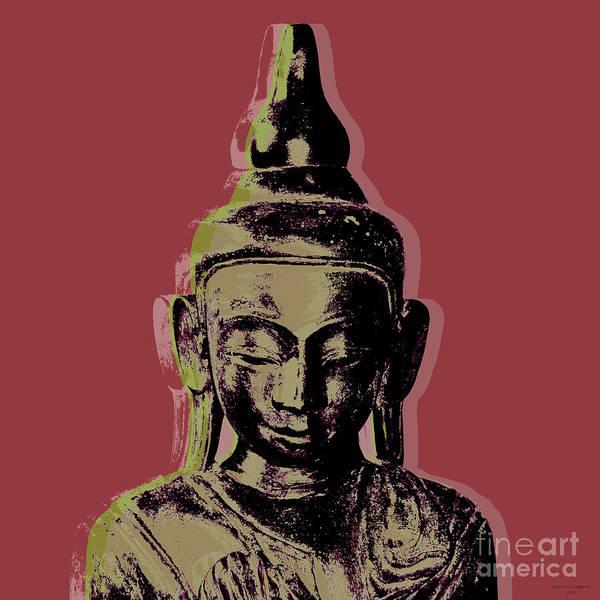 Gautama Digital Art - Thai Buddha #1 by Jean luc Comperat