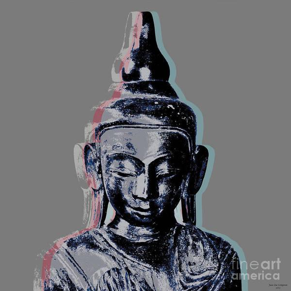 Gautama Digital Art - Thai Buddha #2 by Jean luc Comperat