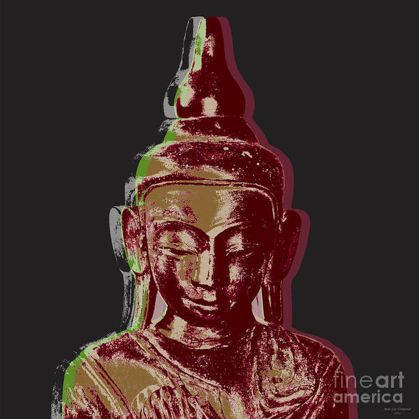 Gautama Digital Art - Thai Buddha #3 by Jean luc Comperat
