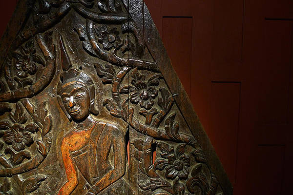 Photograph - Thai Wood Panel by August Timmermans