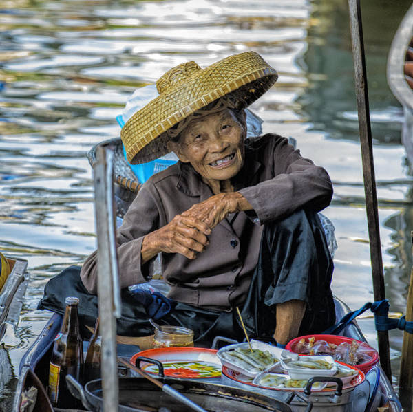 Wizard Hat Wall Art - Photograph - Thai Floating Market No 1 by Paul W Sharpe Aka Wizard of Wonders