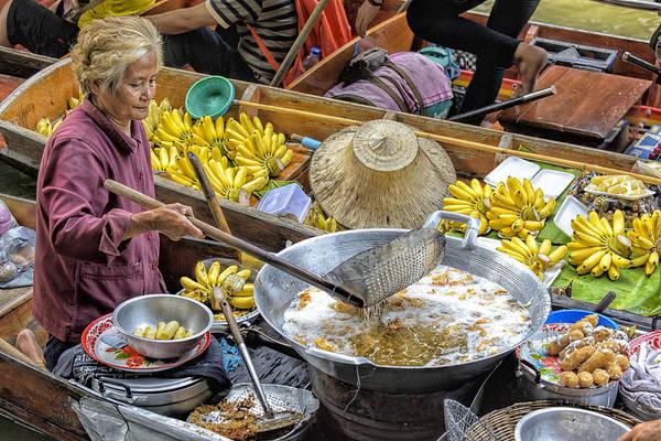Wizard Hat Wall Art - Photograph - Thai Floating Market No 2 - Deep Fried Bananas by Paul W Sharpe Aka Wizard of Wonders