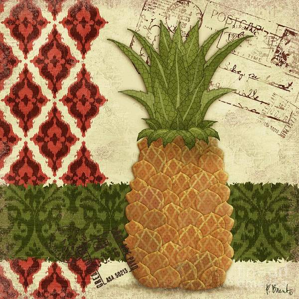 Thai Wall Art - Painting - Thai Pineapple I by Paul Brent