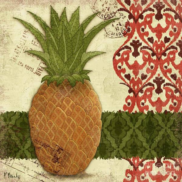 Thai Wall Art - Painting - Thai Pineapple II by Paul Brent