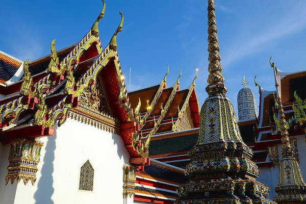 Photograph - Thai Temple Compound by August Timmermans