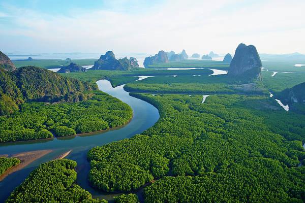 Thailand Photograph - Thailand, Ao Phang Nga National Parc by Tuul & Bruno Morandi