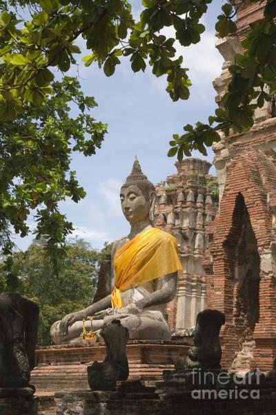 Buddha Statue Photograph - Thailand Ayutthaya Buddha by Colin and Linda McKie