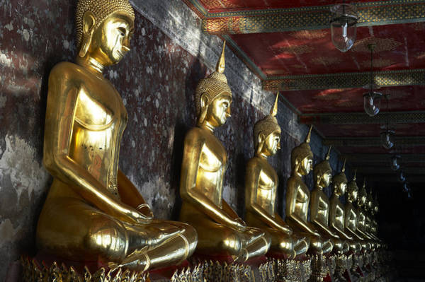 Wat Suthat Photograph - Thailand, Bangkok, Wat Suthat Buddhist by Tips Images