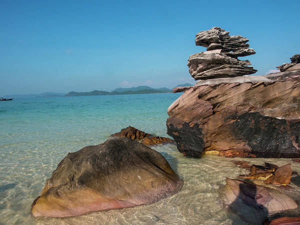 Thailand, Phuket, Phi Phi Islands, Rock Art Print