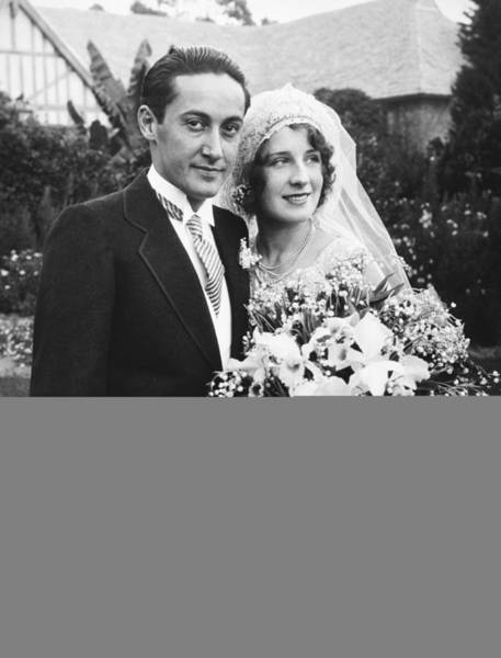 Norma Wall Art - Photograph - Thalberg And Shearer Wedding by Underwood Archives