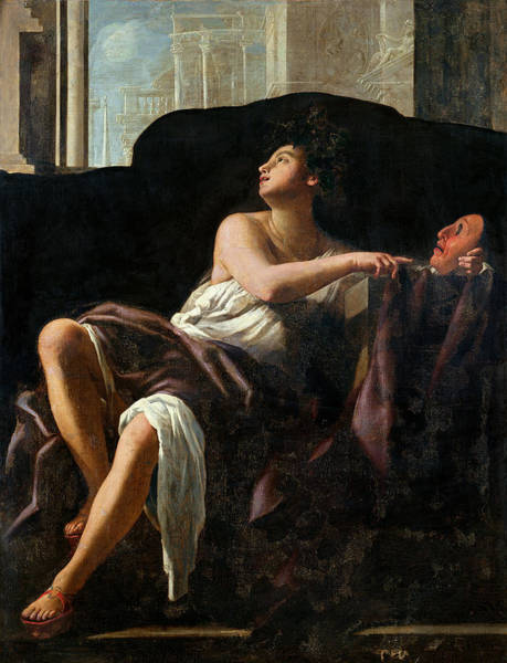 Mythological Photograph - Thalia, Muse Of Comedy Oil On Canvas by Giovanni Baglione