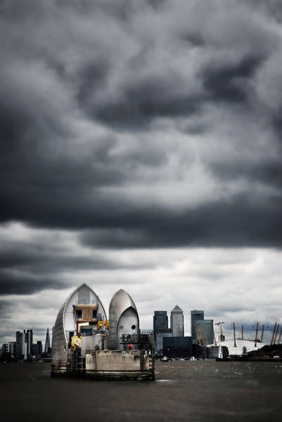 Barrier Photograph - Thames Barrier by Mark Rogan