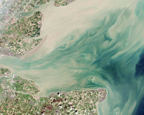 Satellite Photograph - Thames Estuary by Nasa