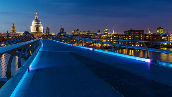 Juxtaposition Photograph - Thames Riverside Blues by Adam Pender