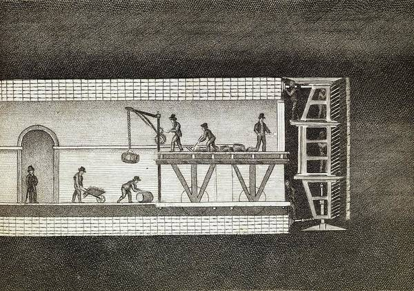 Shield Photograph - Thames Tunnel Construction by Middle Temple Library