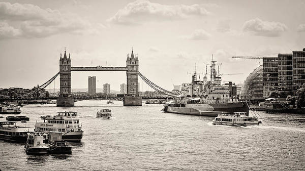 Photograph - Thames View Bw by Heather Applegate