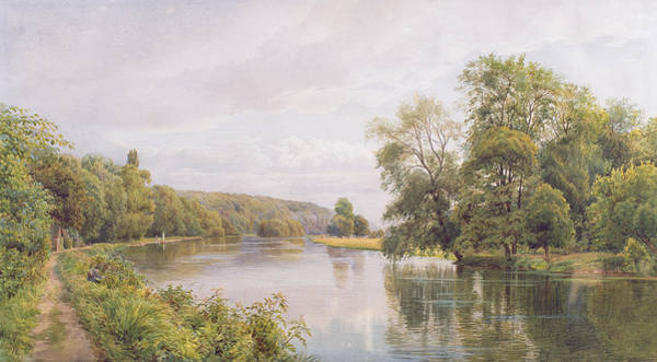 Riverbank Painting - Thames by William Bradley
