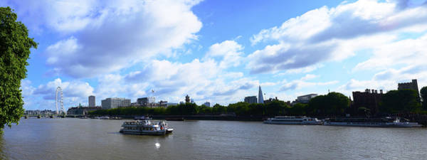 Photograph - Thames With Blue Sky And Puffy Clouds by Richard Henne