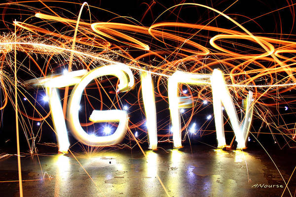 Steel Wool Photograph - Thank God It's Friday Night by Andrew Nourse