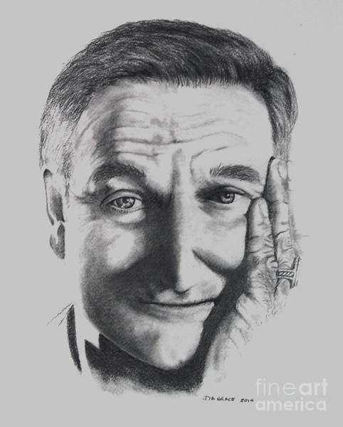 Drawing - Thank You For Believing       Robin Williams by David Neace