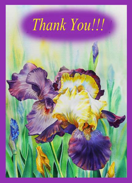Painting - Thank You Iris Flower by Irina Sztukowski