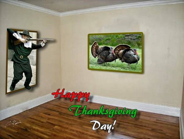 Photograph - Thanksgiving Greeting Card by Charlie Roman