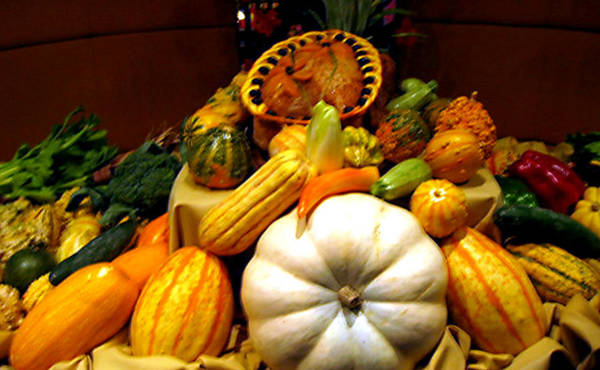 Acorn Squash Photograph - Thanksgiving Still Life by Jay Milo