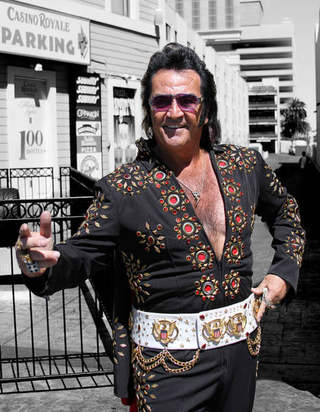 Elvis Photograph - Thankyouverymuch Las Vegas by William Dey