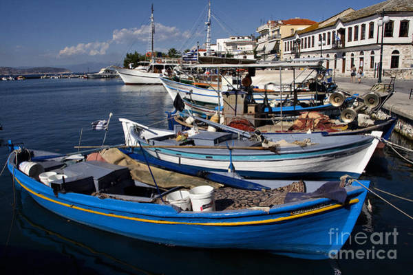 Photograph - Thassos Island Greece Blue Harbor by Daliana Pacuraru