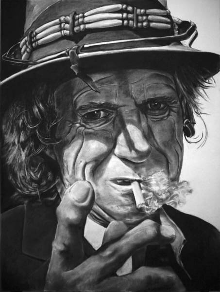Drawing - That Guy Looks Like Keith Richards by William Underwood
