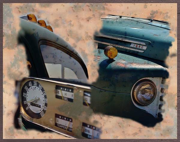 Dashboard Digital Art - That Old Ford by Kae Cheatham