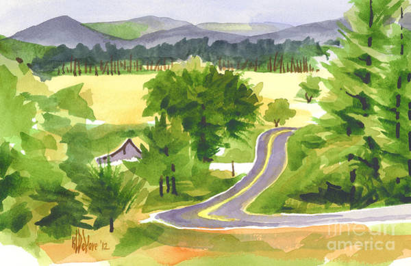 Painting - That Ribbon Of Highway Out Jj by Kip DeVore