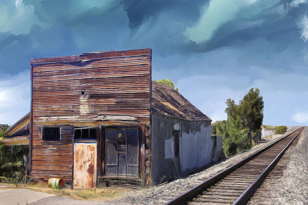 Railroad Station Painting - That Train Don't Run By Here No More by Dominic Piperata