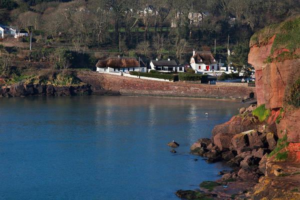 Dunmore East Photograph - Thatched Cottages, Dunmore Strand by Panoramic Images