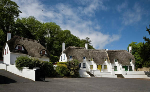 Dunmore East Photograph - Thatched Cottages Near Dunmore by Panoramic Images