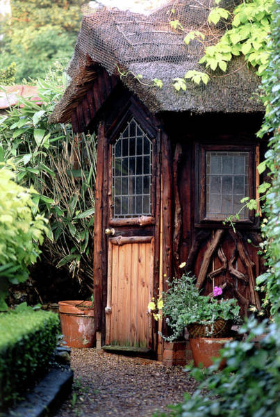 Gazebo Photograph - Thatched Summer House by Steve Taylor/science Photo Library