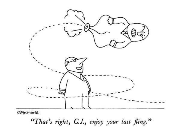 Shooting Drawing - That's Right by Charles Barsotti